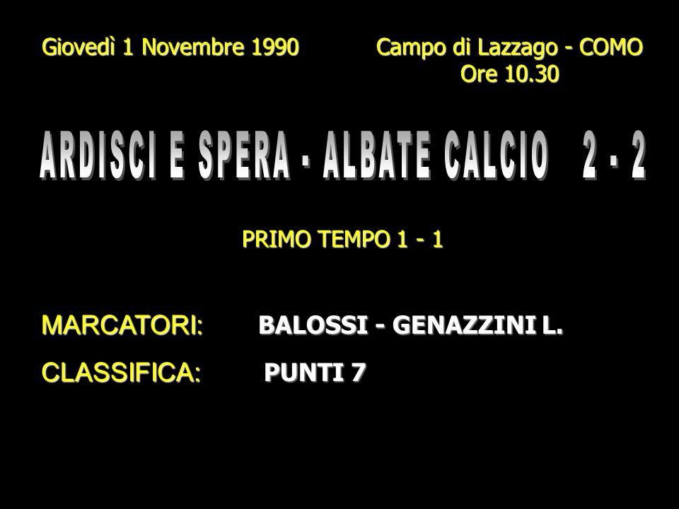 ARDISCI E SPERA - ALBATE CALCIO 2 - 2