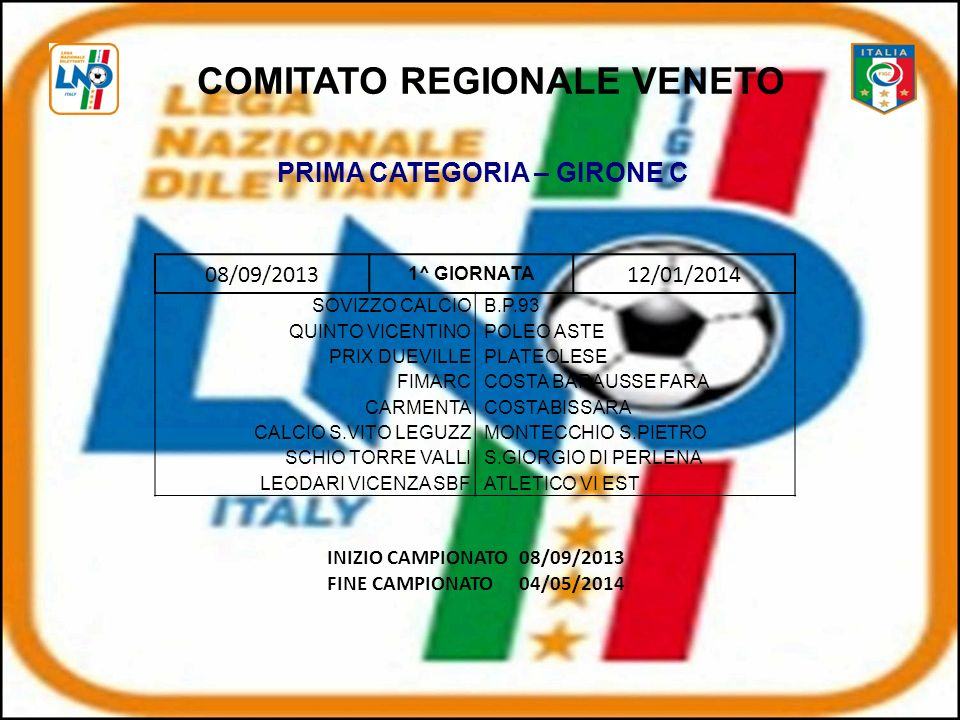 COMITATO REGIONALE VENETO PRIMA CATEGORIA – GIRONE C