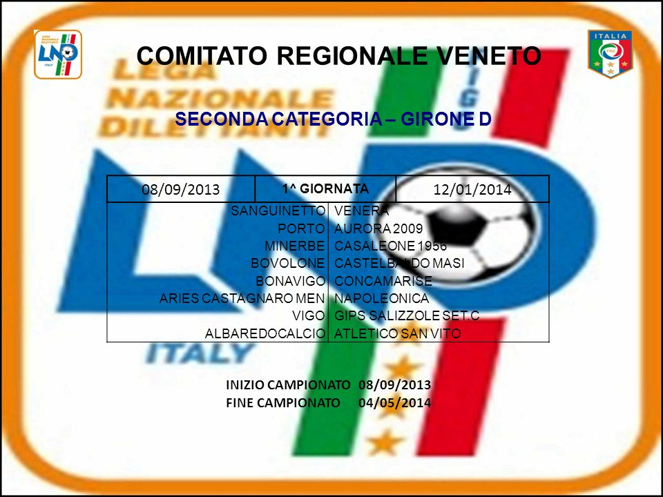 COMITATO REGIONALE VENETO SECONDA CATEGORIA – GIRONE D
