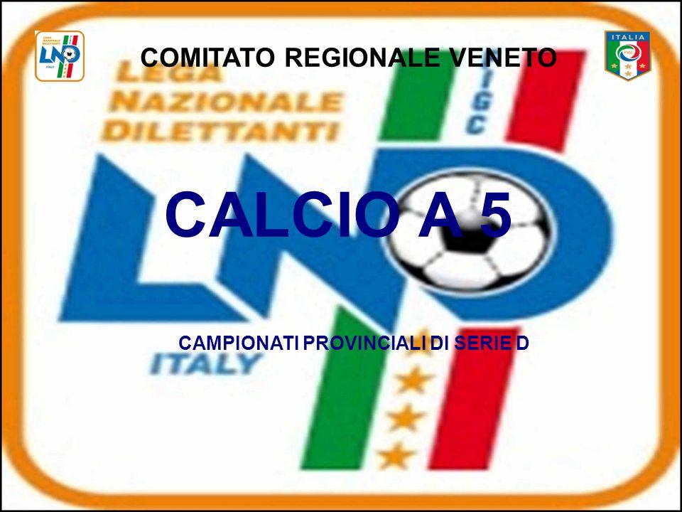 COMITATO REGIONALE VENETO CAMPIONATI PROVINCIALI DI SERIE D