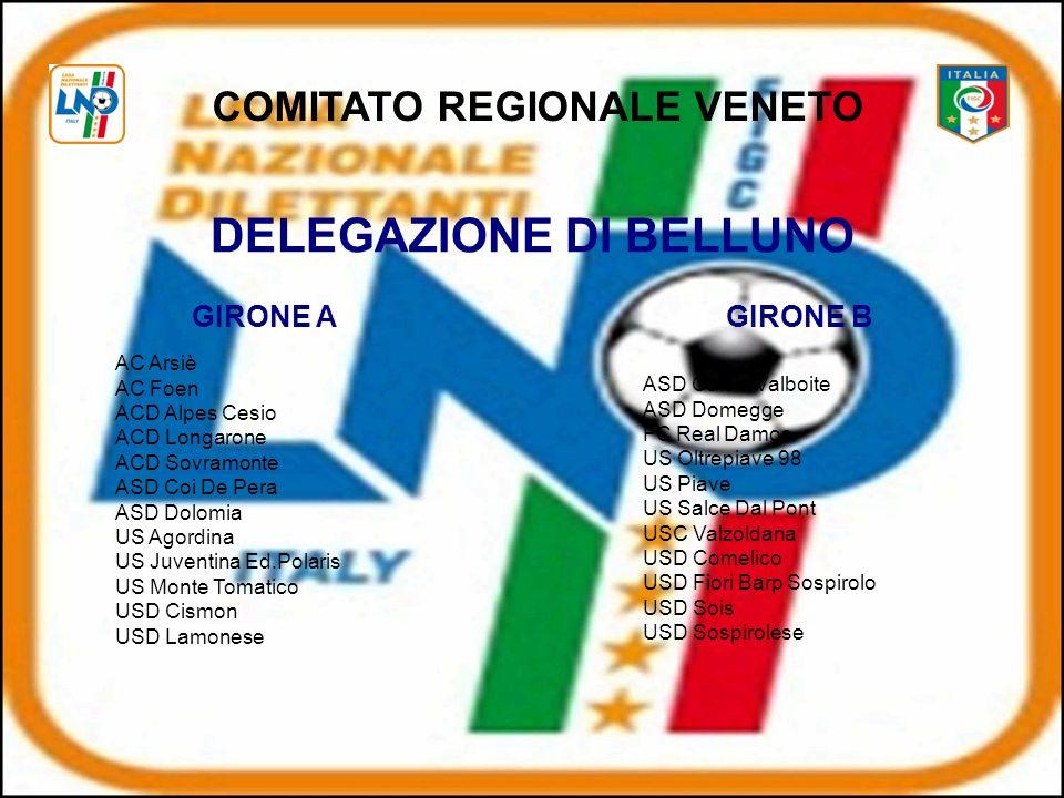 COMITATO REGIONALE VENETO DELEGAZIONE DI BELLUNO