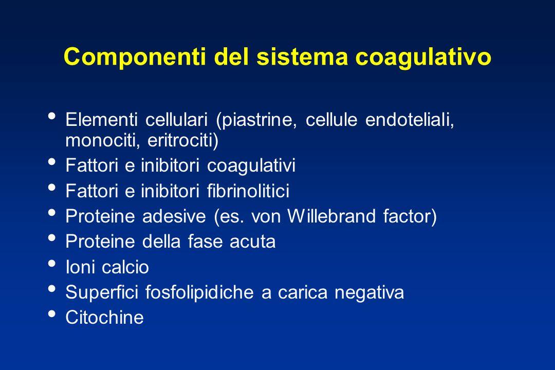 Componenti del sistema coagulativo
