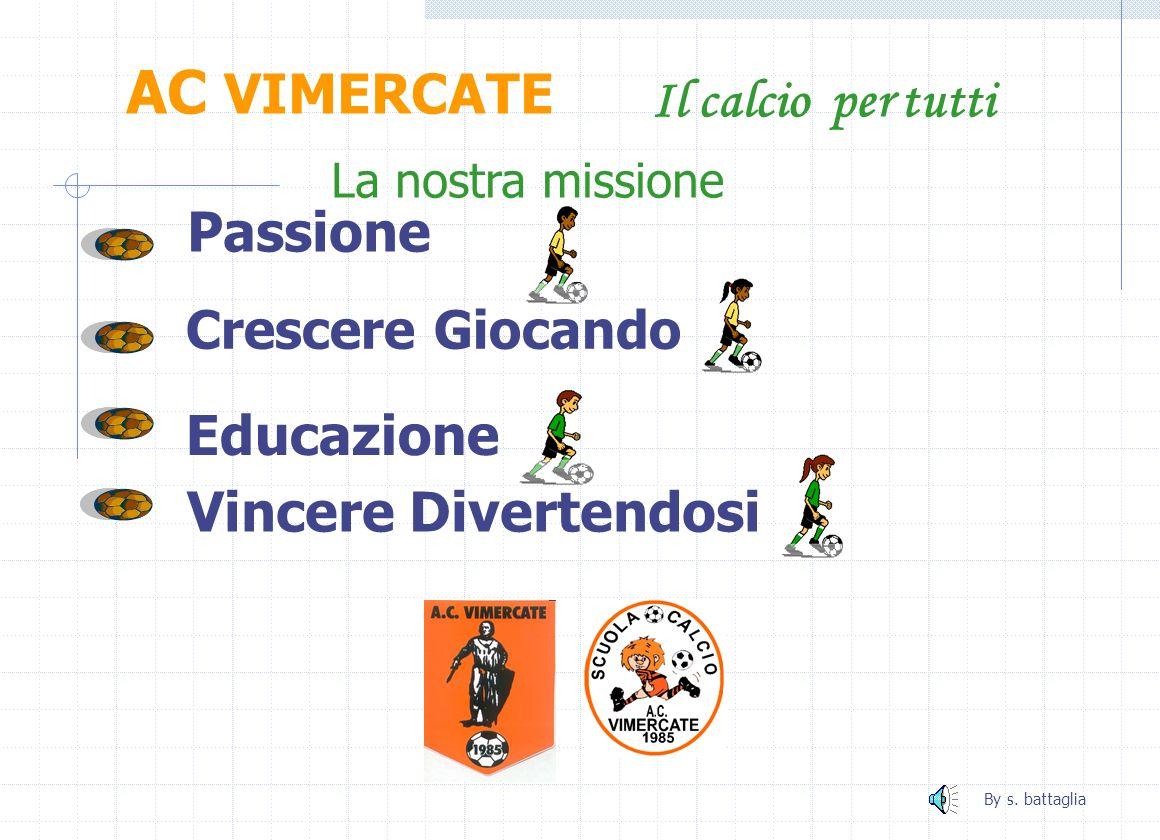 AC VIMERCATE Il calcio per tutti Passione Educazione