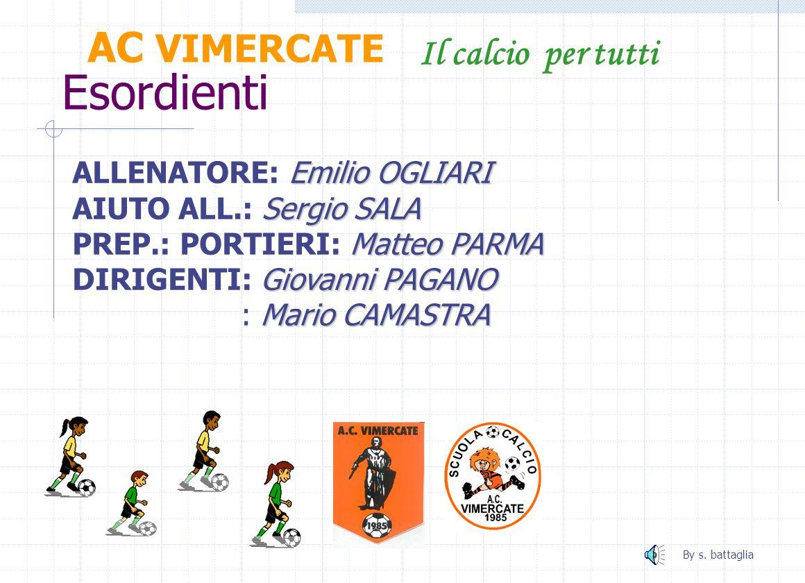 Esordienti AC VIMERCATE Il calcio per tutti ALLENATORE: Emilio OGLIARI