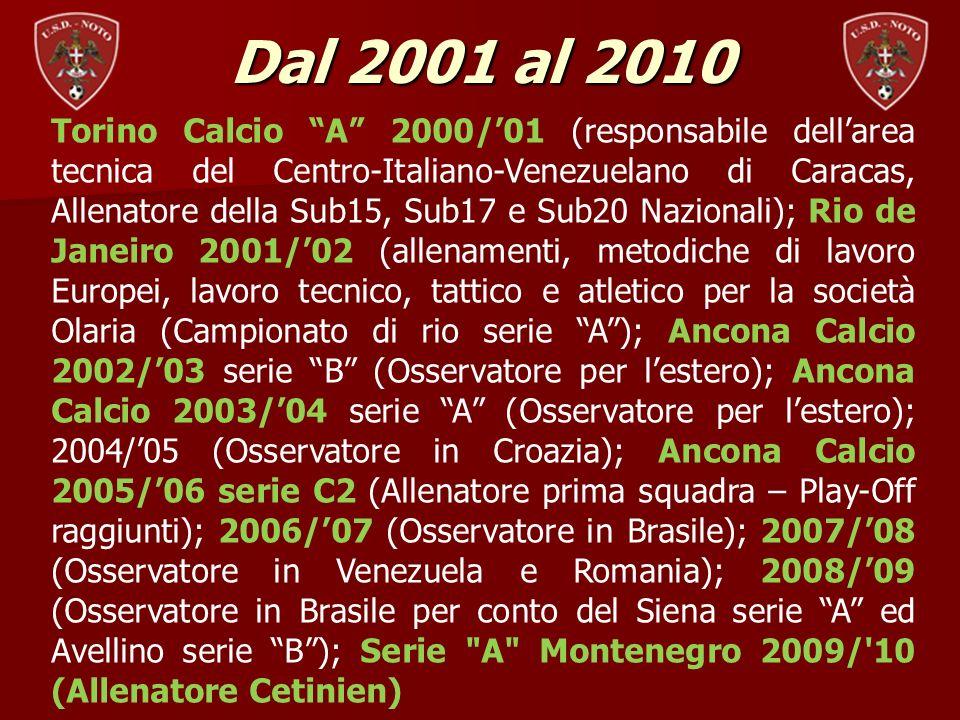 Dal 2001 al 2010