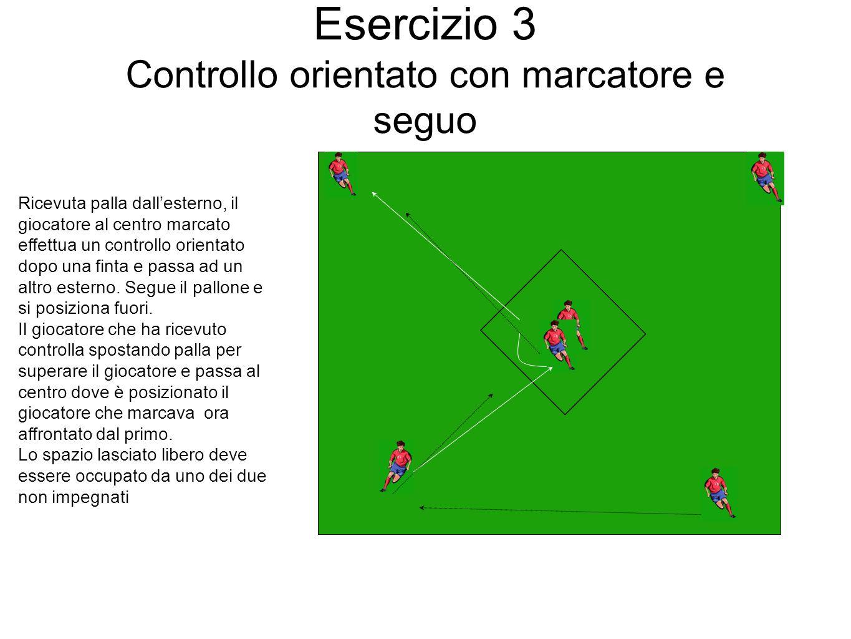 Esercizio 3 Controllo orientato con marcatore e seguo
