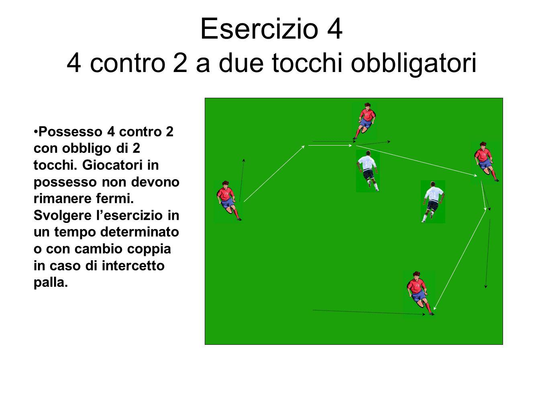 Esercizio 4 4 contro 2 a due tocchi obbligatori