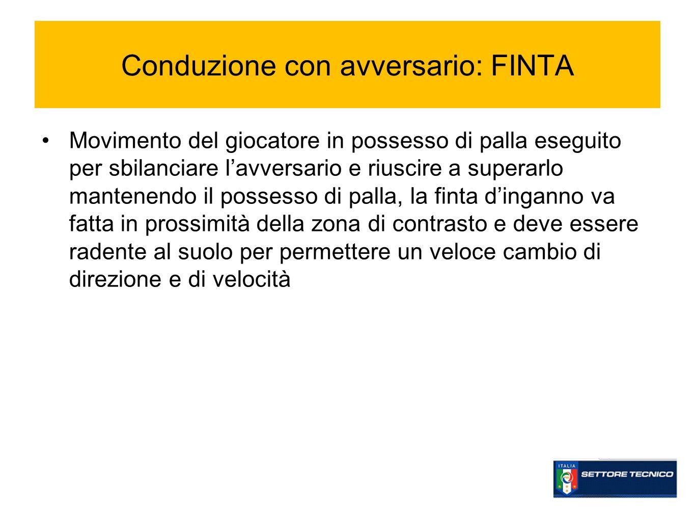 Conduzione con avversario: FINTA