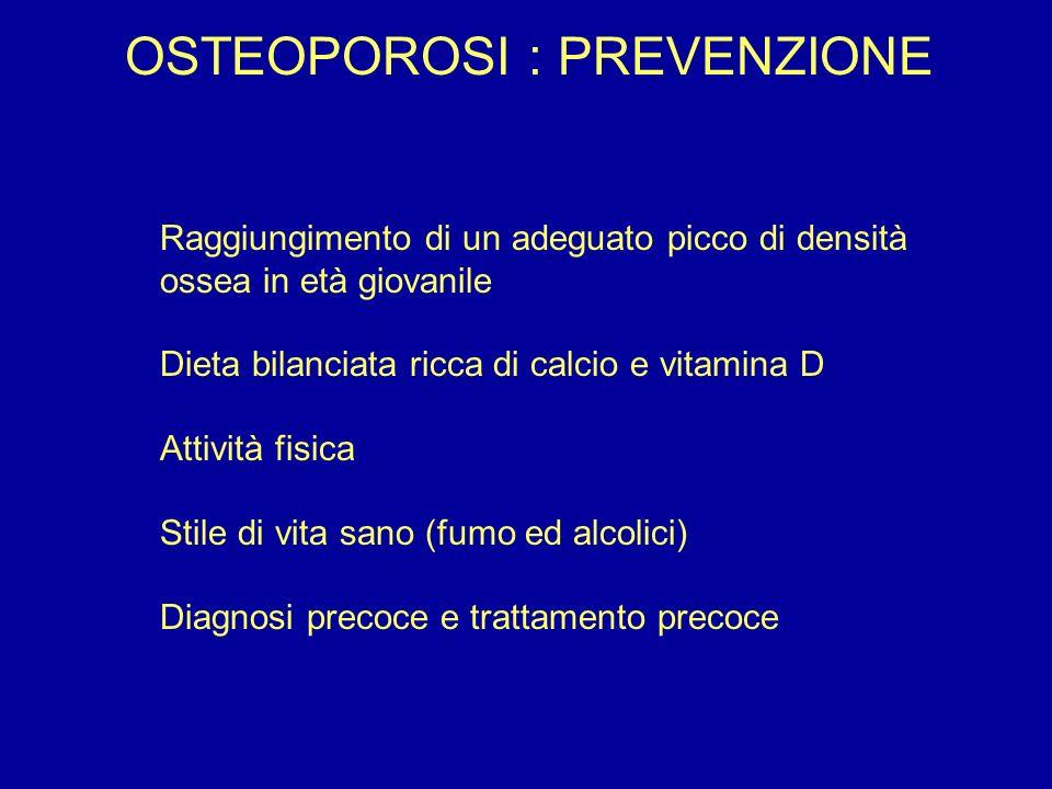 OSTEOPOROSI : PREVENZIONE