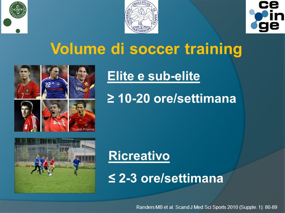 Volume di soccer training