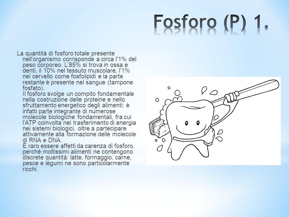 Fosforo (P) 1.