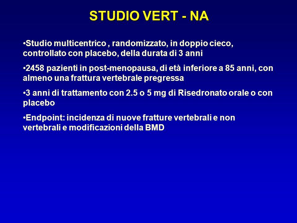 STUDIO VERT - NA Studio multicentrico , randomizzato, in doppio cieco, controllato con placebo, della durata di 3 anni.