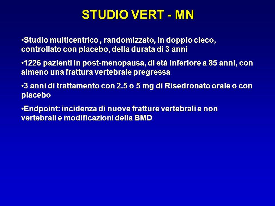 STUDIO VERT - MN Studio multicentrico , randomizzato, in doppio cieco, controllato con placebo, della durata di 3 anni.