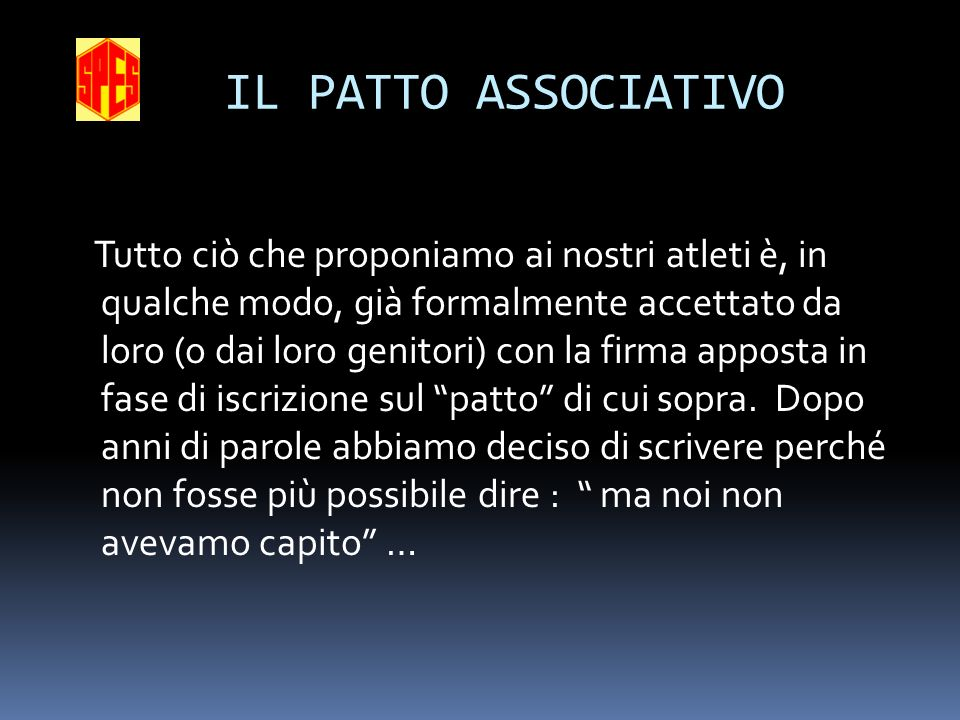 IL PATTO ASSOCIATIVO