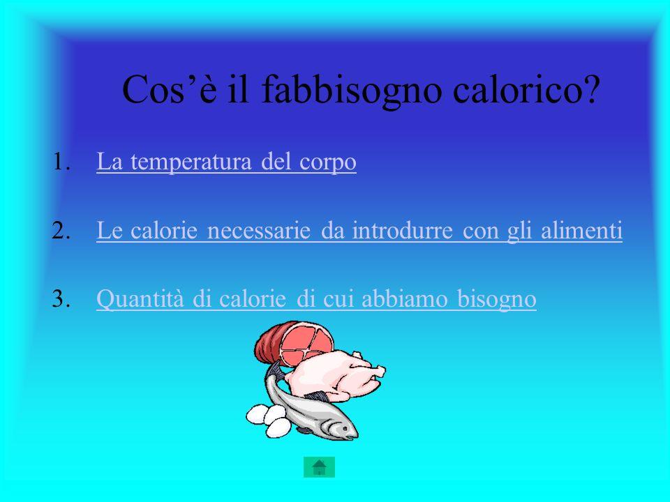 Cos'è il fabbisogno calorico