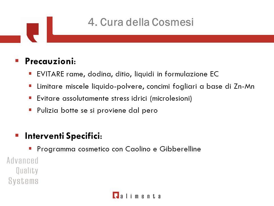 4. Cura della Cosmesi Precauzioni: Interventi Specifici: