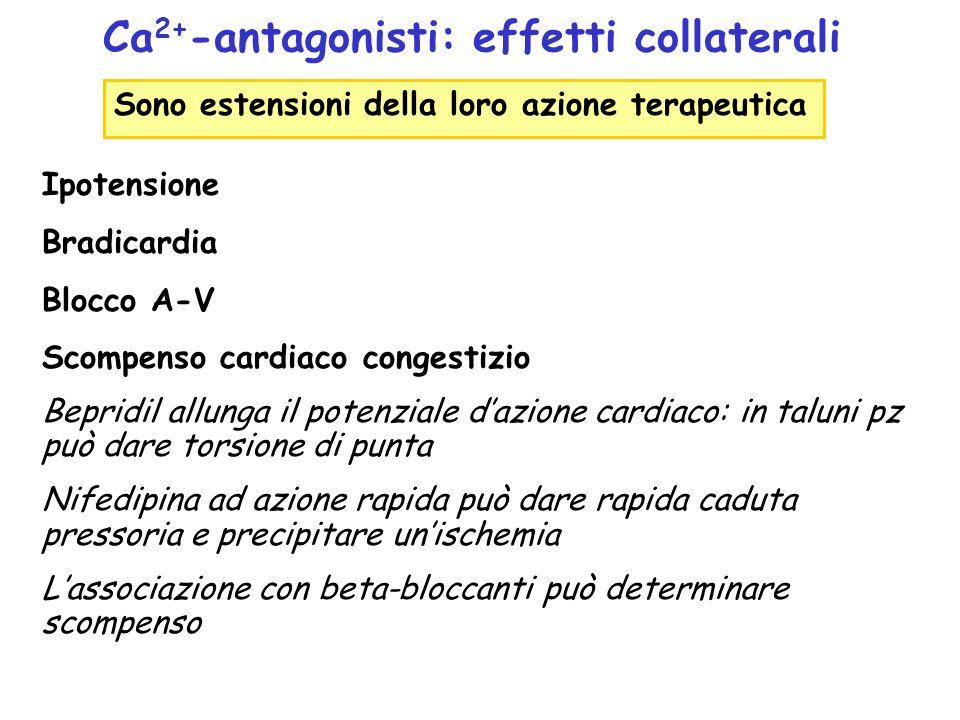 Ca2+-antagonisti: effetti collaterali