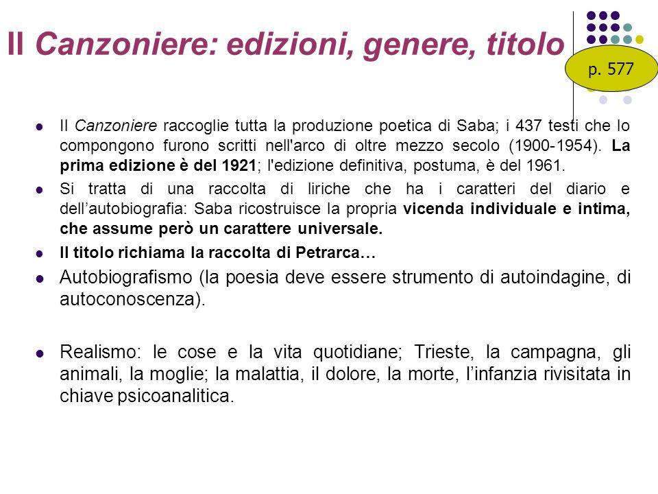 Il Canzoniere: edizioni, genere, titolo