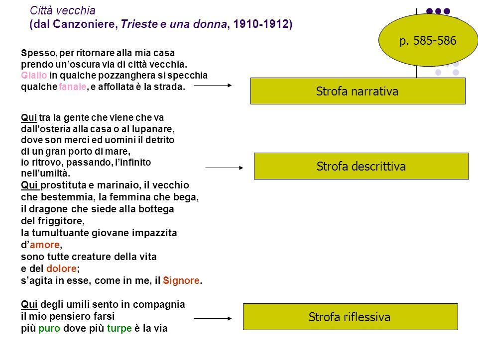 Città vecchia (dal Canzoniere, Trieste e una donna, 1910-1912)