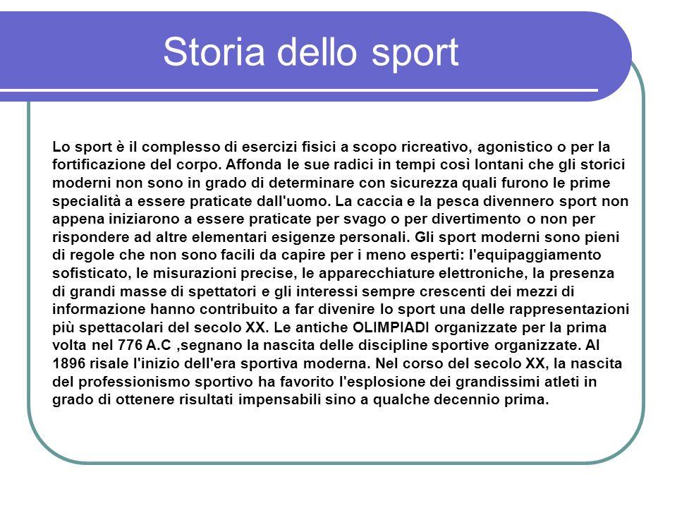 Storia dello sport