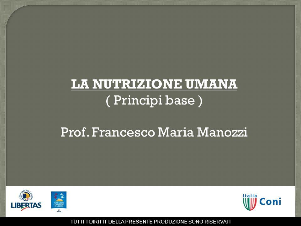 Prof. Francesco Maria Manozzi