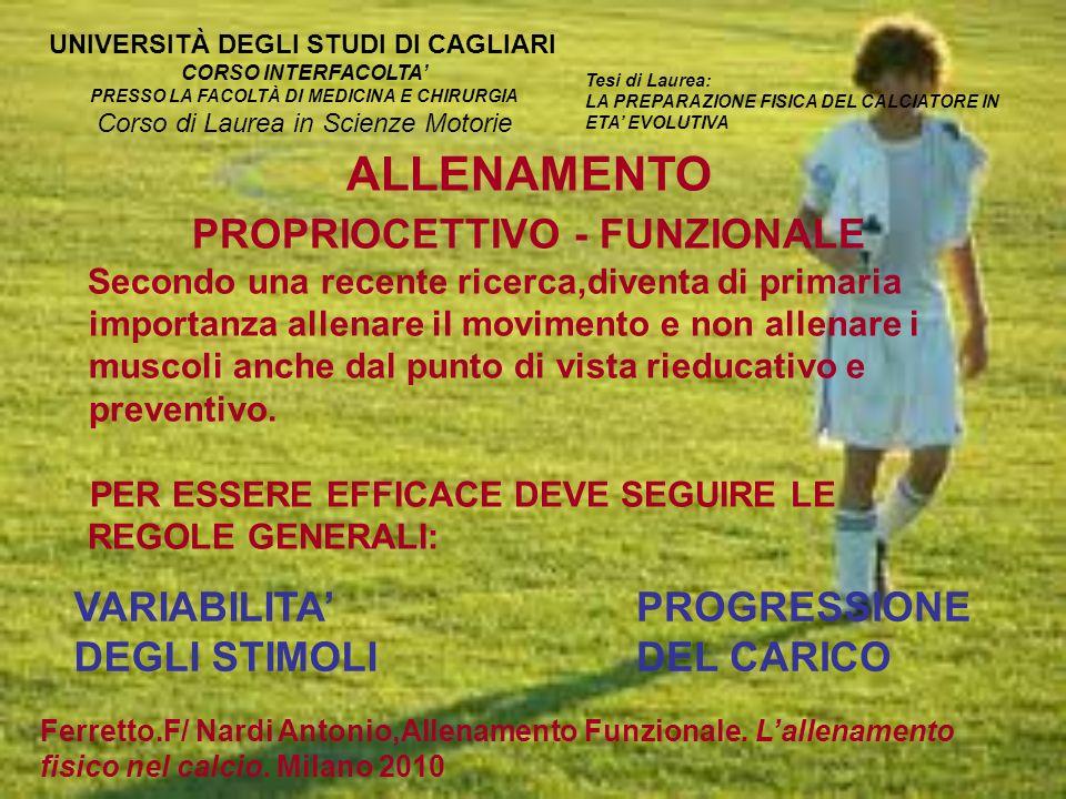 PRESSO LA FACOLTÀ DI MEDICINA E CHIRURGIA PROPRIOCETTIVO - FUNZIONALE