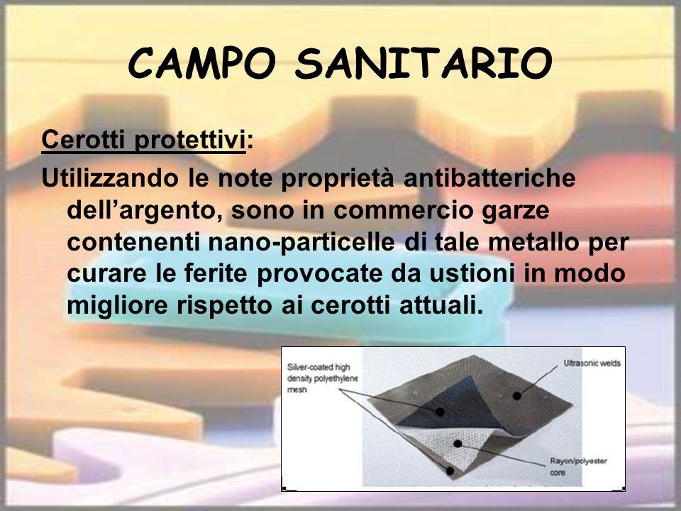 CAMPO SANITARIO Cerotti protettivi: