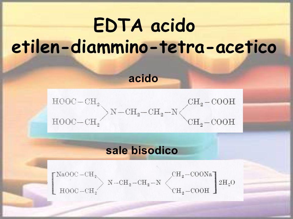 EDTA acido etilen-diammino-tetra-acetico