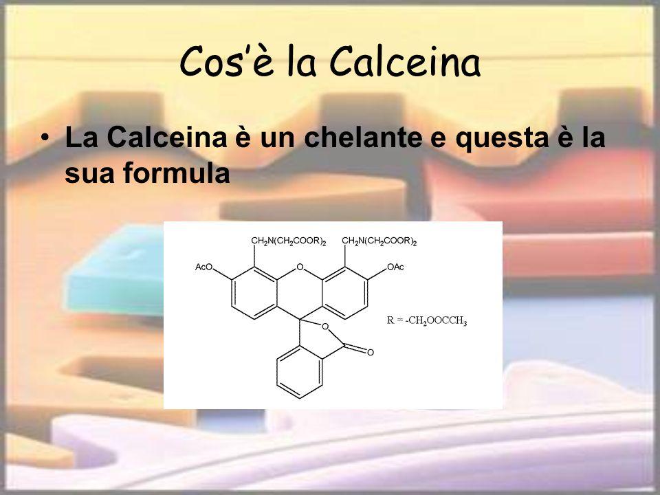 Cos'è la Calceina La Calceina è un chelante e questa è la sua formula