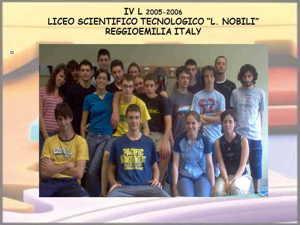 IV L 2005-2006 LICEO SCIENTIFICO TECNOLOGICO L