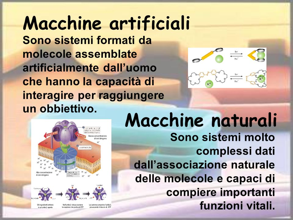 Macchine artificiali Macchine naturali