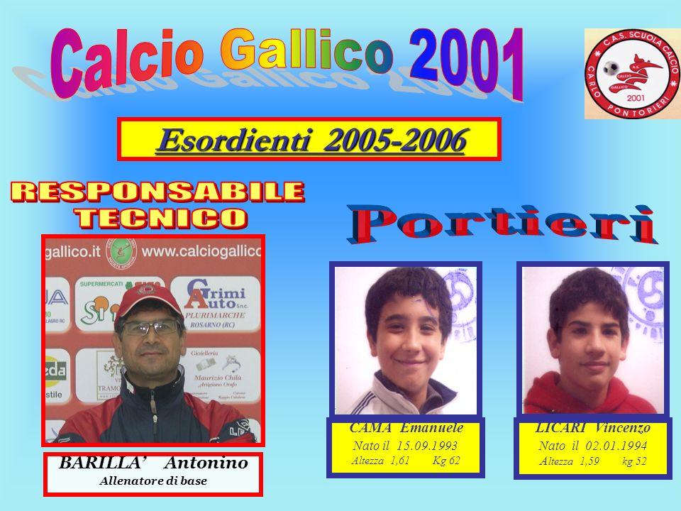 Esordienti 2005-2006 RESPONSABILE TECNICO Portieri Calcio Gallico 2001