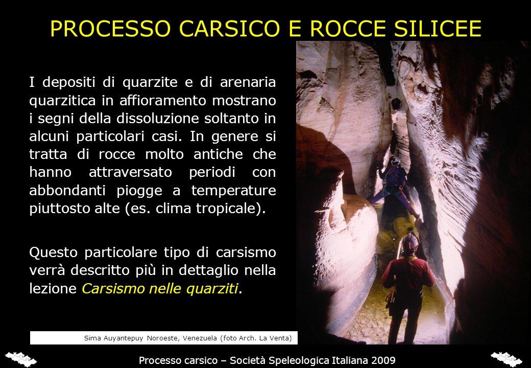IL PROCESSO CARSICO NELLE ROCCE CARBONATICHE