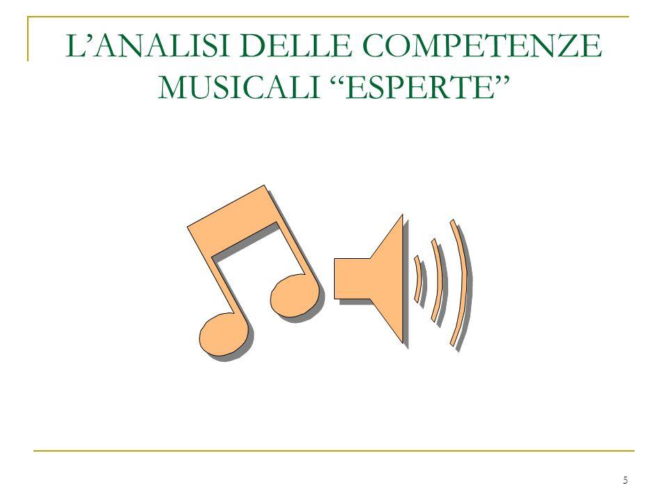 L'ANALISI DELLE COMPETENZE MUSICALI ESPERTE