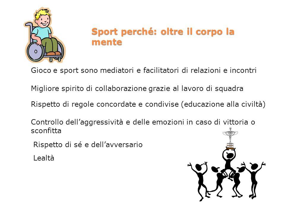 Sport perché: oltre il corpo la mente