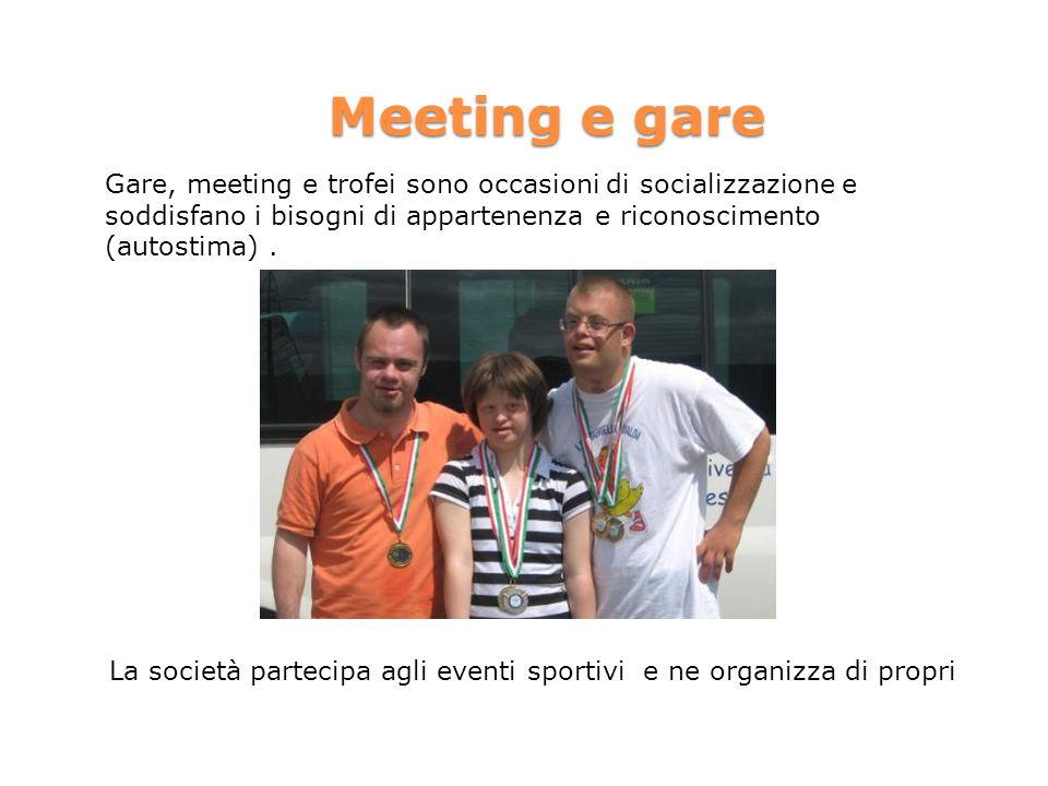 La società partecipa agli eventi sportivi e ne organizza di propri
