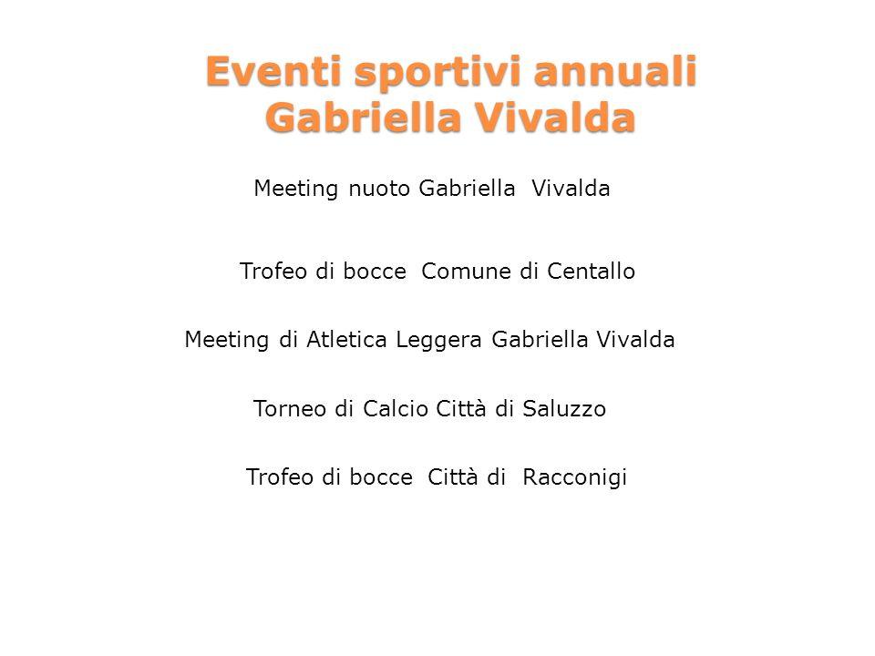 Eventi sportivi annuali Gabriella Vivalda
