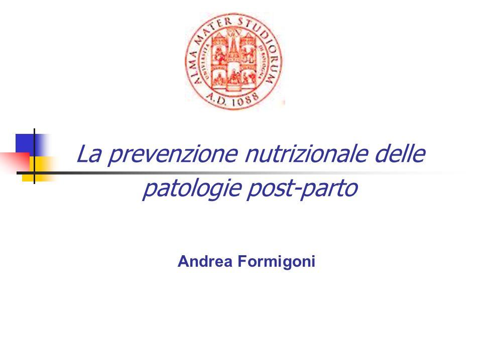 La prevenzione nutrizionale delle patologie post-parto