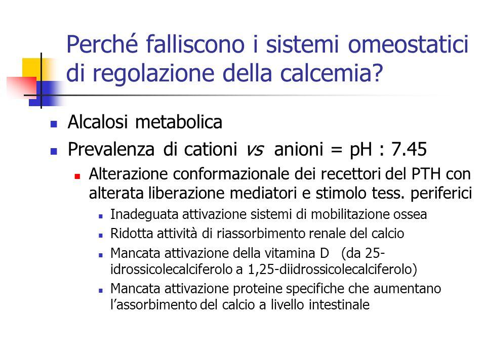 Perché falliscono i sistemi omeostatici di regolazione della calcemia
