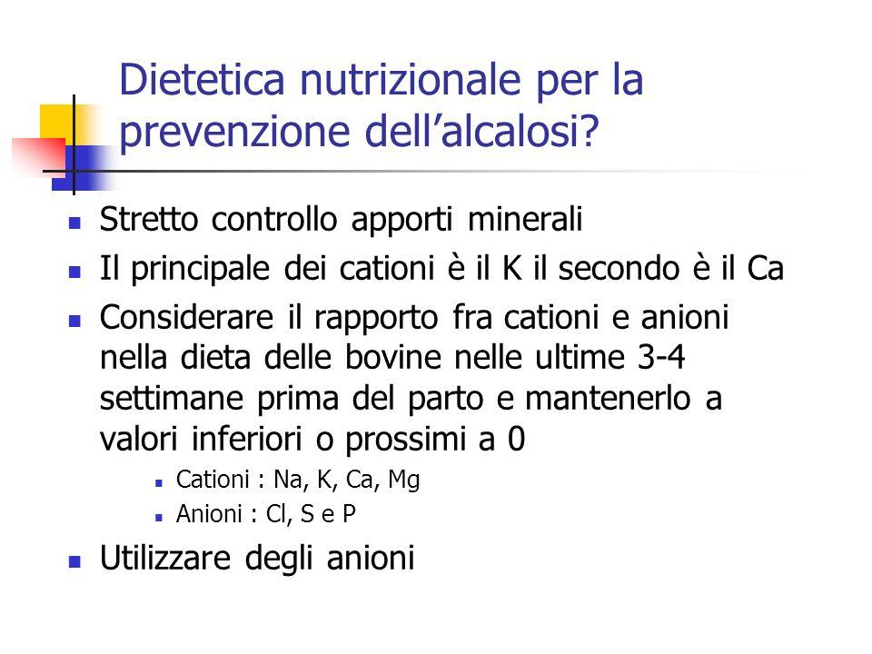 Dietetica nutrizionale per la prevenzione dell'alcalosi