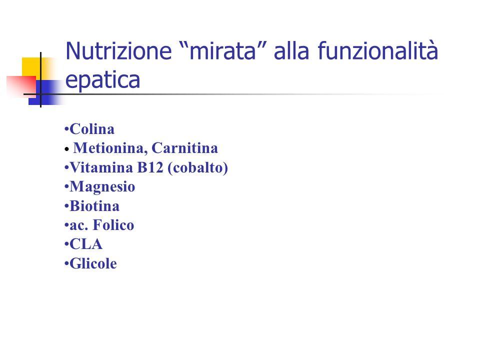 Nutrizione mirata alla funzionalità epatica