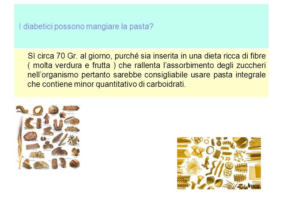 I diabetici possono mangiare la pasta