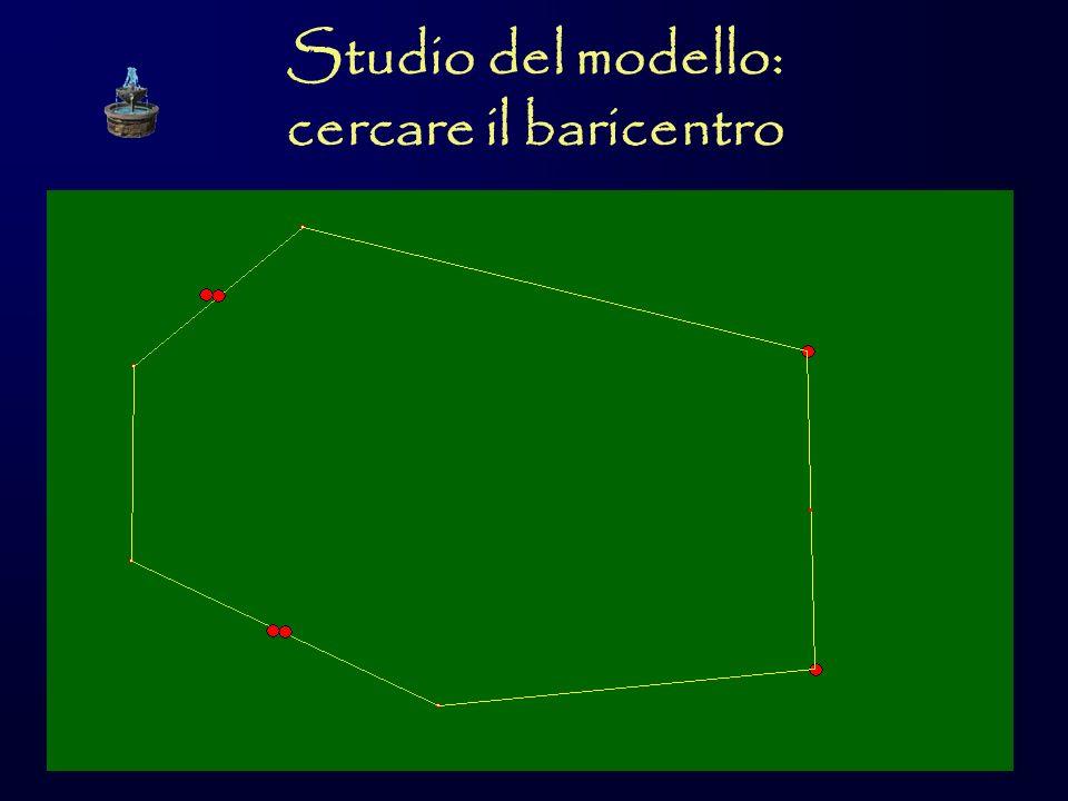 Studio del modello: cercare il baricentro