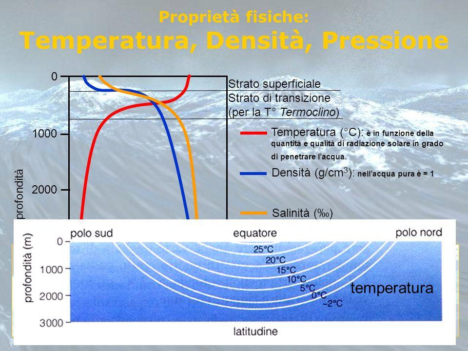 Temperatura, Densità, Pressione