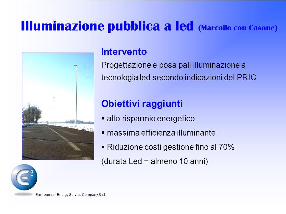 Illuminazione pubblica a led (Marcallo con Casone)
