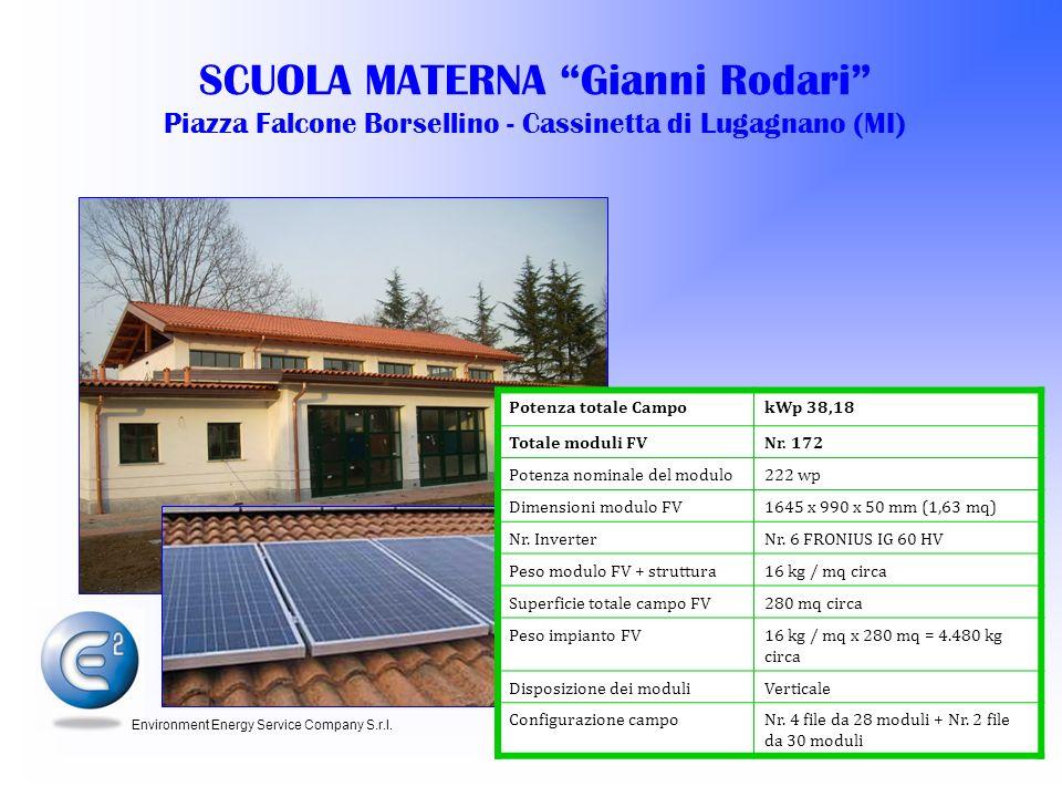 SCUOLA MATERNA Gianni Rodari Piazza Falcone Borsellino - Cassinetta di Lugagnano (MI)