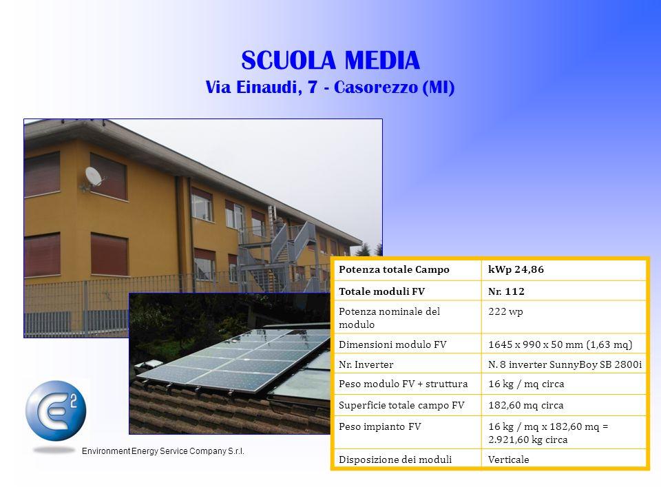 SCUOLA MEDIA Via Einaudi, 7 - Casorezzo (MI)