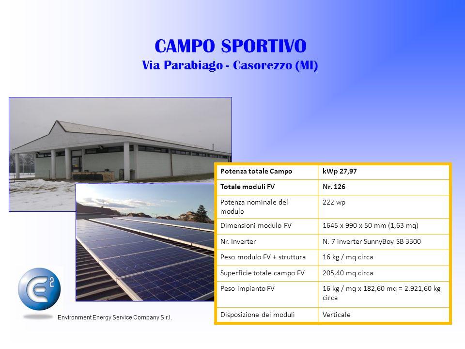 CAMPO SPORTIVO Via Parabiago - Casorezzo (MI)