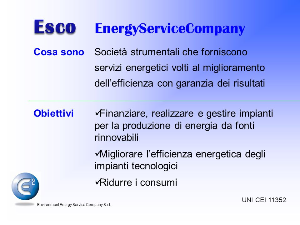 Esco EnergyServiceCompany