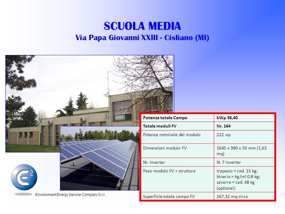 SCUOLA MEDIA Via Papa Giovanni XXIII - Cisliano (MI)